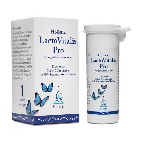 Probiotyk 12 szczepów batkerii Jelitowa Flora Bakteryjna Holistic LactoVitalis PRO 30kaps