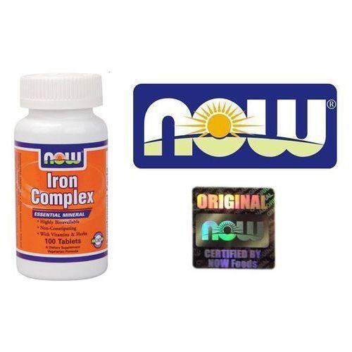 Tabletki Now Foods Iron Complex - Żelazo Complex 100 tabl.