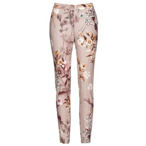 Spodnie neoprenowe z nadrukiem bonprix jasny lila z nadrukiem, kolor fioletowy
