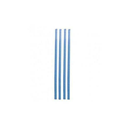 Pianki ochronne na słupki siatki zabezpieczającej - niebieskie - 2 szt. marki Athletic24