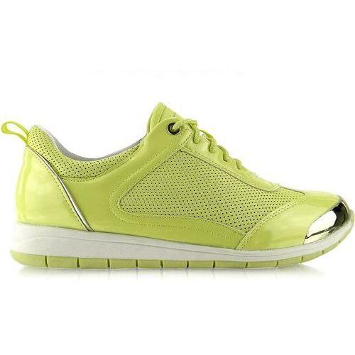 adf4a8d8fc0b33 Buty sportowe z blaszką y621 zielone marki Buty obuwie damskie - fotografia Buty  sportowe z blaszką