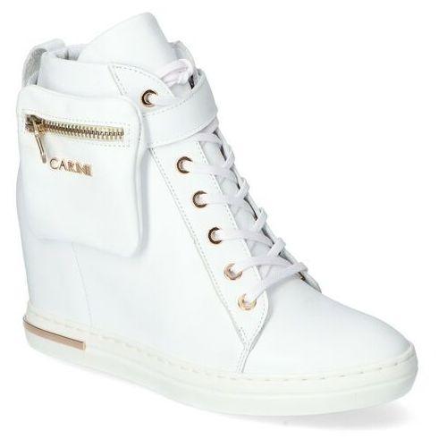 Sneakersy b5612-l46 białe lico, Carinii