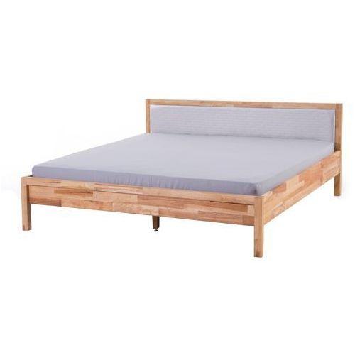 Bardzo dobra Podwójne łóżko drewniane ze stelażem 180x200 cm, szare CARRIS GU52