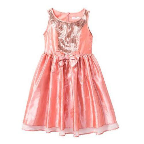 bde88c1104 Sukienka na uroczyste okazje bonprix łososiowo-jasnoróżowy