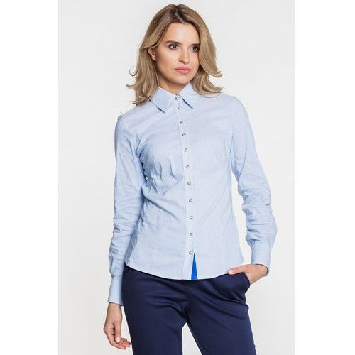 Niebieska koszula w prążki Duet Woman