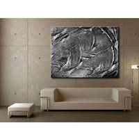 Nowoczesne obrazy - srebrna abstrakcja - duży obraz na ścianę