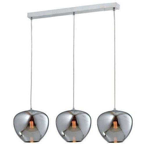 Lampa wisząca aura md12105 3cr a metalowa oprawa listwa zwis szklany loft chrom (Auhilon)