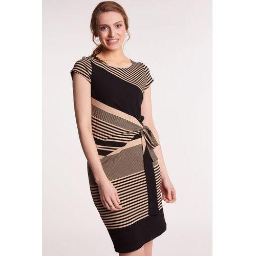 99d09476 Sukienka z golfem Banko - , kolor szary (Click Fashion)