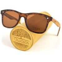 Drewniane okulary przeciwsłoneczne Niwatch Orion Brown
