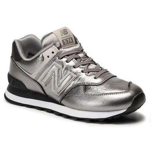 New balance Sneakersy - wl574wne srebrny