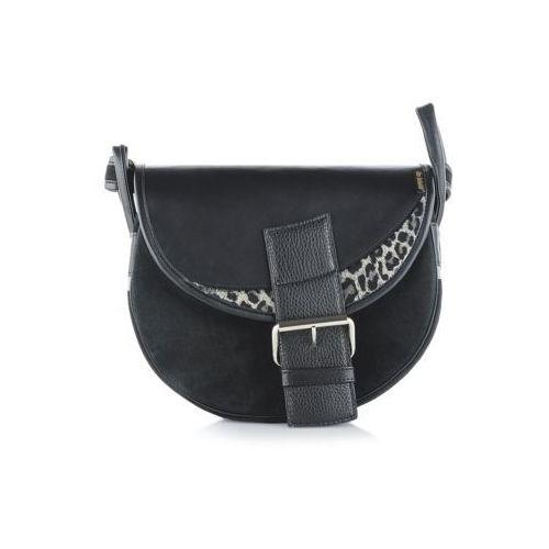 48cfac9f84ac9 Freshman mini czarna torebka skórzana na ramię marki Słoń torbalski