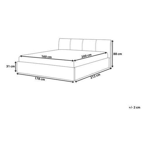 łóżko Szare Tapicerowane Podnoszony Pojemnik 160 X 200 Cm Orbey Beliani