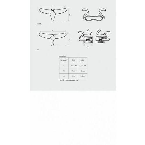 Obsessive secred komplet 3-częściowy - maska,kajdanki,stringi