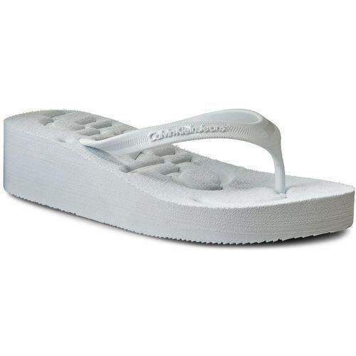 bd2ec2d0 Calvin Klein Japonki jeans - tamber r4117 white/white Calvin klein