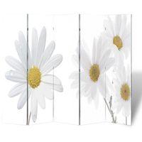 vidaXL Parawan/dzielnik pokojowy w kwiaty (200 x 180 cm) (8718475849162)