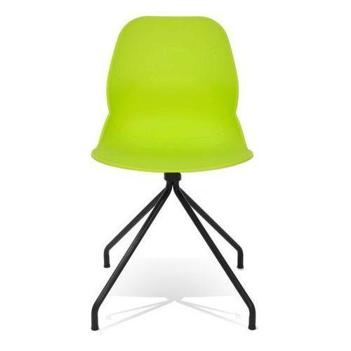 Krzesło Plastikowe Z Metalowymi Nogami Leaf Dsob Zielone Polipropylen Podstawa Metalowa Czarna Kolor Czarny King Home