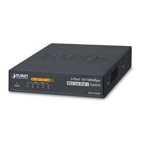 Import Fsd-504hp switch poe 4 portowy z 1 portem uplink planet