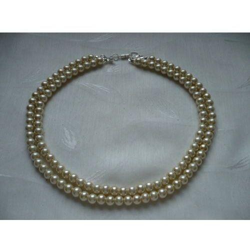 N-45 Perłowy naszyjnik, kolor biały
