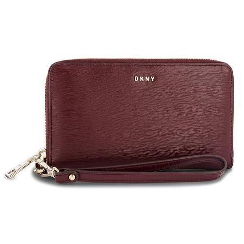 ef21b4ee7ed66 Duży portfel damski - bryant wristlet r83l3660 blood red xod marki Dkny