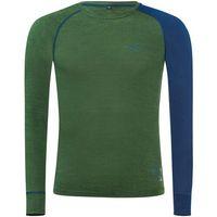 Funkcjonalna bluza/koszulka termo damska BLACK CREVICE green 70% Merino, rozmiar 40