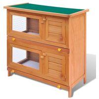 Vidaxl klatka dla królików, 4 drzwiczki, drewniana (8718475871873)