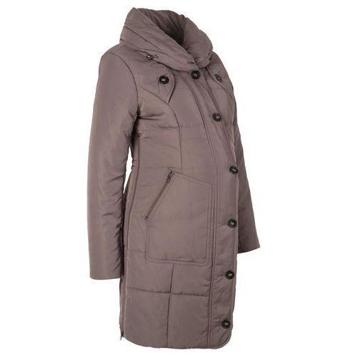 Krótki płaszcz pikowany ciążowy bonprix średni brąz