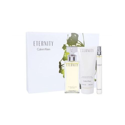 eternity zestaw edp 100ml + 200ml balsam + 10ml miniatura dla kobiet marki Calvin klein