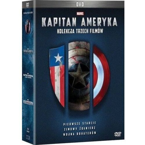 Johnston joe, russo anthony, russo joe Kapitan ameryka trylogia (3dvd) (płyta dvd)