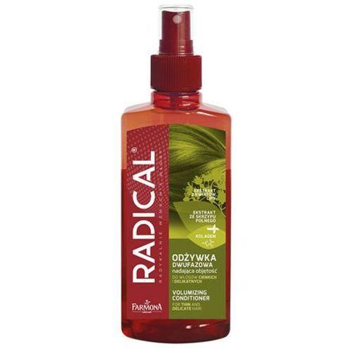 Radical odżywka dwufazowa nadająca objętość do włosów cienkich i delikatnych (200 ml) Farmona - Bombowy upust