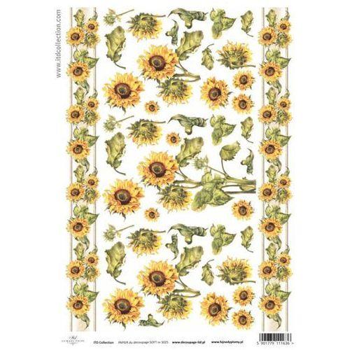 Papier do decoupage A4 ITD Soft 025 słoneczniki x1