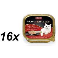 ANIMONDA Vom Feinsten Classic Cat smak: wołowina, pierś z kurczaka + zioła 32x100g (4017721832649)