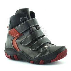 Buty zimowe dla dzieci 06037 - czerwony ||czarny marki Kornecki