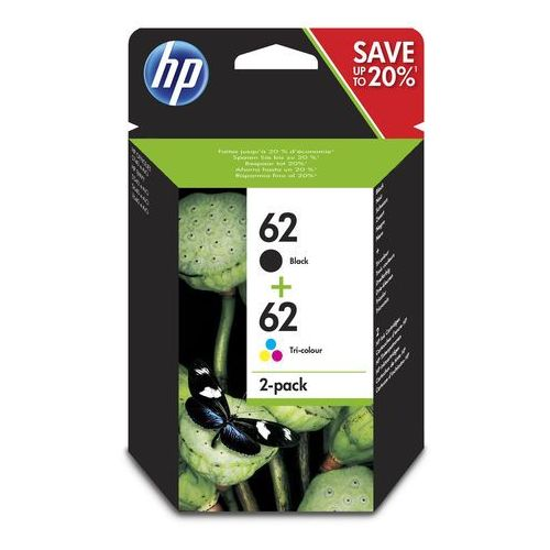 HP tusz Black nr 62 C2P04AE + tusz Color nr 62 C2P06AE, J3M80AE, N9J71AE, J3M80AE