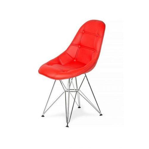 Krzesło EKO SILVER krwisty czerwony T2 - ekoskóra, podstawa metalowa chromowana (5900000025025)