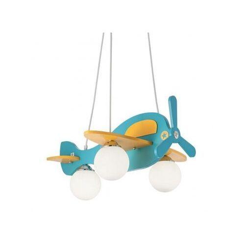 b0e80a86 Lampa wisząca avion-1 sp3 (blu/giallo) (Ideal Lux)