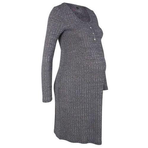 Sukienka shirtowa ciążowa i do karmienia piersią bonprix czarny melanż