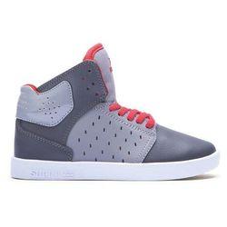 Buty - kids atom grey/charcoal/red-white (gcr) rozmiar: 17 marki Supra