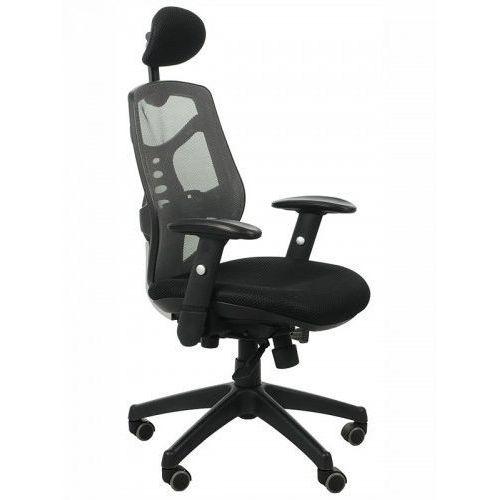 Fotel biurowy gabinetowy kb-8905/szary - krzesło obrotowe marki Stema - kb
