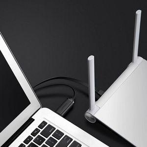 Ugreen adapter przejściówka kabel sieciowy konsolowy internetowy USB Typ C - RJ45 1,5 m czarny (80186 CM204) (6957303881864)