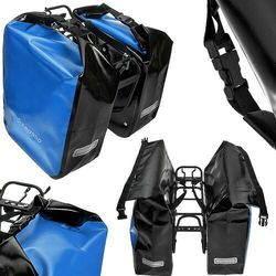 CO1009.60.05 Sakwy rowerowe Crosso DRY BIG 60l Niebieskie zestaw na tył, S0473