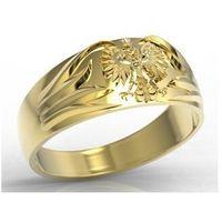 Sygnet złoty z orłem insigne sj-13z marki Węc - twój jubiler