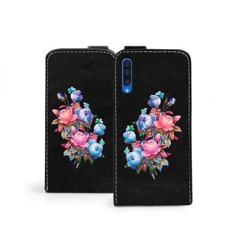 Samsung Galaxy A50 - etui na telefon Flip Fantastic - bukiet róż