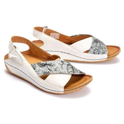 7c45379e MACIEJKA 00994-11/00-5 biały, sandały damskie - Biały, kolor biały