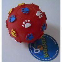 Yarro zabawka winylowa dla psa, piłka z łapką 6cm (5901436100829)