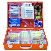 Walizka pierwszej pomocy wg DIN 13169, pomarańczowy sygnalizacyjny, wys. x szer.