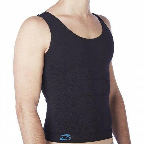 Czsalus (włochy) Koszulka modelująca wyszczuplająca męska z nanosrebrem - biała, czarna - prod. beautysan