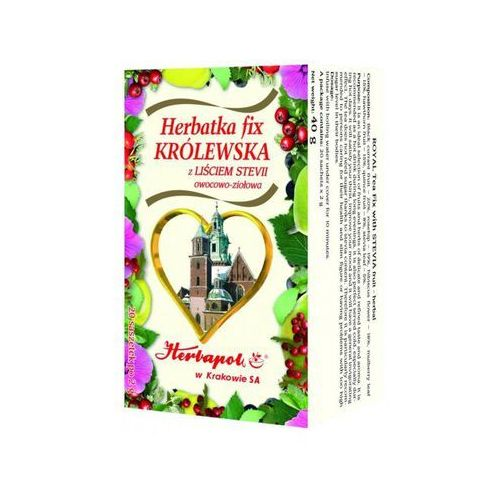 Herbatka fix Królewska z liściem stevii x 20 saszetek
