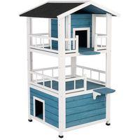Penthouse domek dla kota - dł. x szer. x wys.: 72 x 72 x 124 cm  -5% rabat dla nowych klientów  dostawa gratis + promocje marki Zooplus exclusive