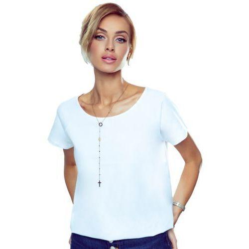 Ilza koszulka bawełniana damska Eldar Romantica Active Biała - Biały (5901490169183)
