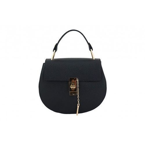 cb9d4ae8b238f Barberini s Modne torebki listonoszki damskie skórzane - - czarny - galeria  produktu